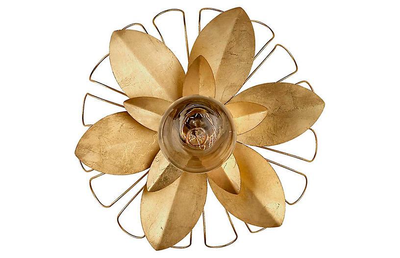 Keaton Mixed Floral Sconce, Gild