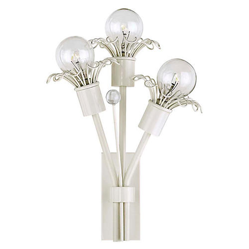 Keaton Extra-Small Bouquet Sconce, Light Cream