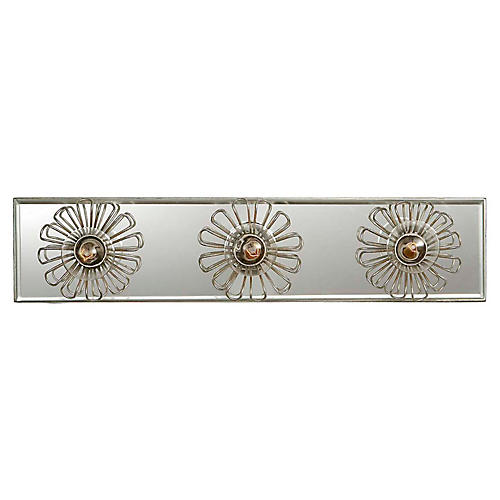 "Keaton 18"" Floral Sconce, Silver Leaf"