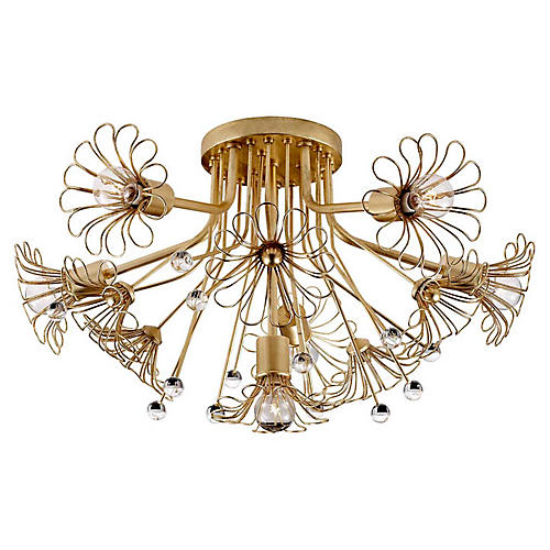 Keaton Bouquet Flush Mount, Gild