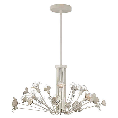 Keaton Bouquet Chandelier, Light Cream