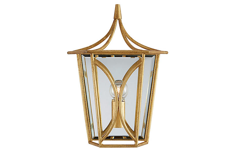Cavanagh Sconce, Antiqued Gold