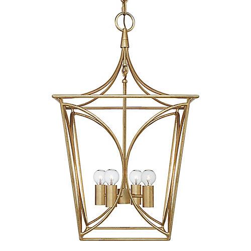 Cavanagh Lantern, Antiqued Gold