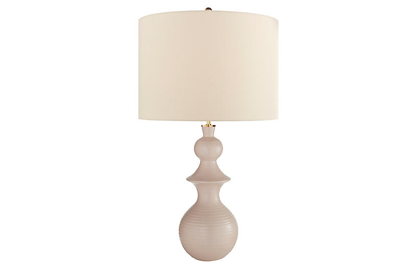 Saxon Large Table Lamp, Blush