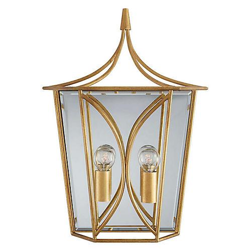 Cavanagh Medium Lantern Sconce, Gild