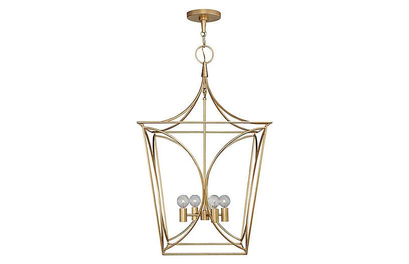 Cavanagh Medium Lantern, Gild