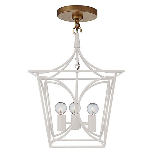 Cavanagh Mini Lantern, Light Cream