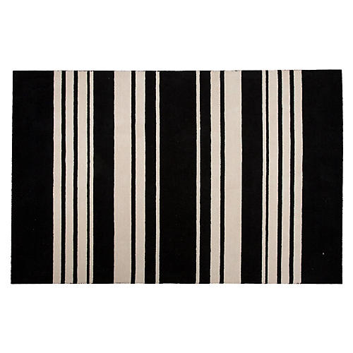 Astor Stripes Rug, Black