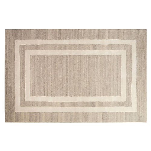 Solids & Heathers Rug, Platinum