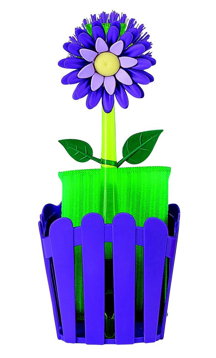 Flower Garden Suction Caddy Set, Plum