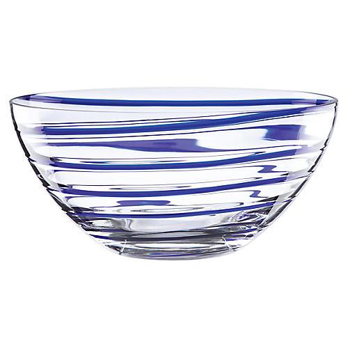 "10"" Charlotte Street Decorative Bowl, Blue"