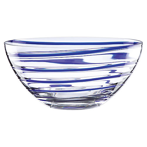 "10"" Charlotte Street Decorative Bowl, Blue"