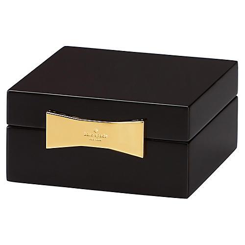 Garden Drive Square Jewelry Box, Black