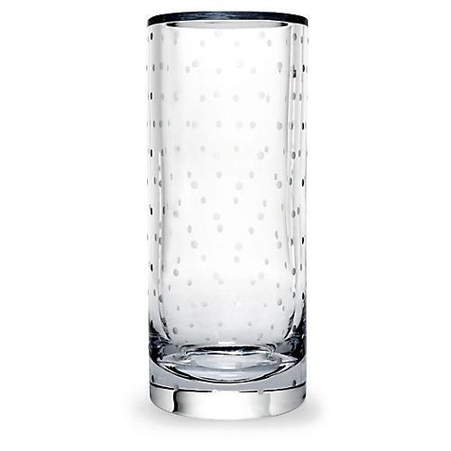 """10"""" Larabee Dot Vase, Clear"""