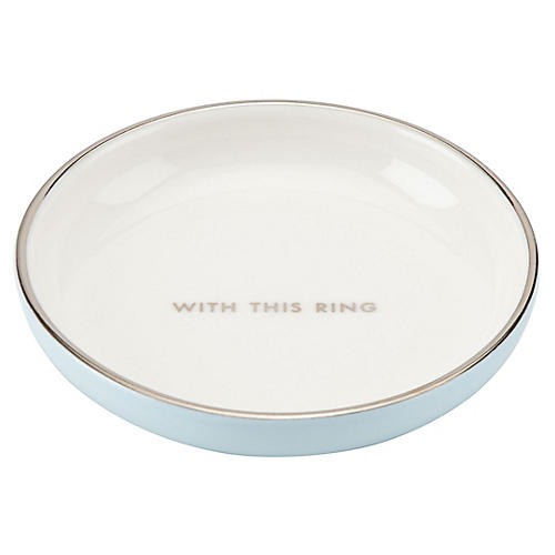 "4"" Take the Cake Catchall, White/Blue"