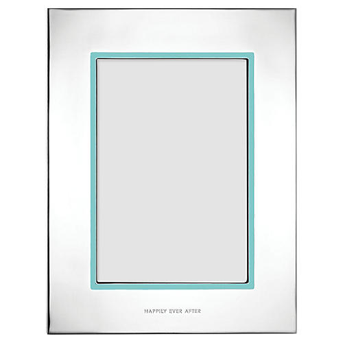Take the Cake Frame, Silver/Teal