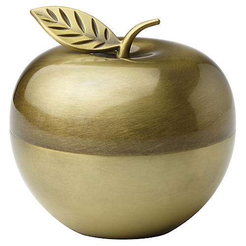 "4"" Zadie Drive Apple Box, Gold"
