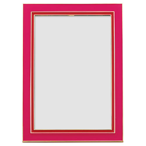 Portland Place Picture Frame, Pink/Red