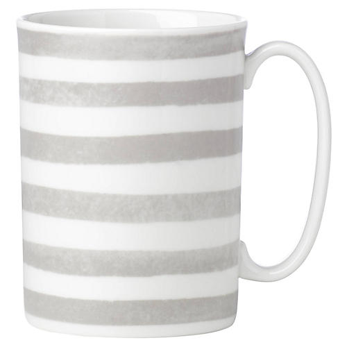 Charlotte Street North Mug, White/Gray