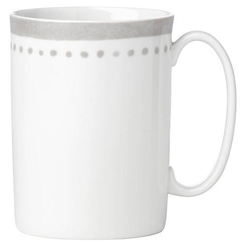 Charlotte Street East Mug, White/Gray