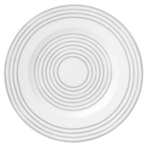 Charlotte Street West Salad Plate, White/Gray