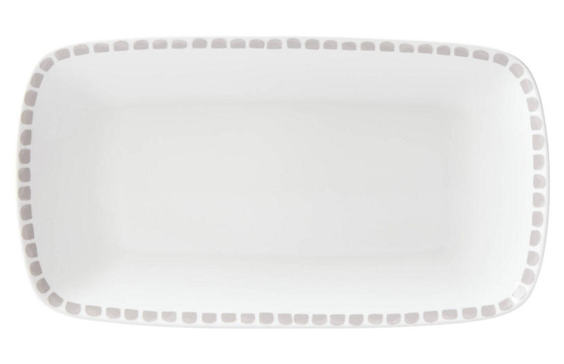 Charlotte Street Serving Tray, White/Gray