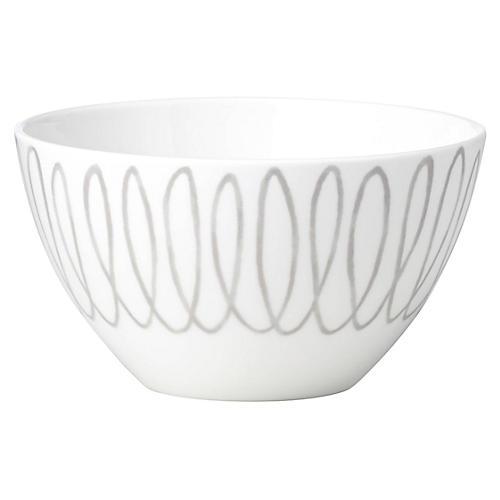 Charlotte Street Soup Bowl, White/Gray