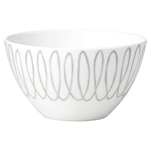 Charlotte Street Soup Bowl, White/Gray