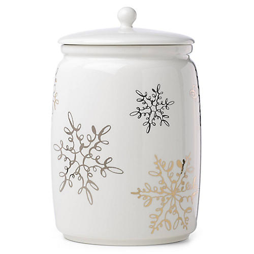 Jingle All the Way Cookie Jar, White/Multi