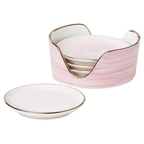 S/4 Charles Lane Coasters, Pink
