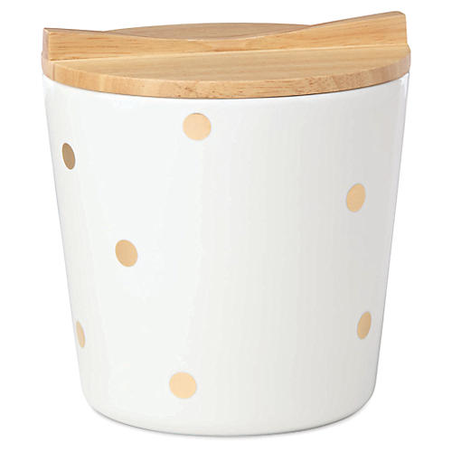 Melrose Ave. Ice Bucket, Natural/Cream