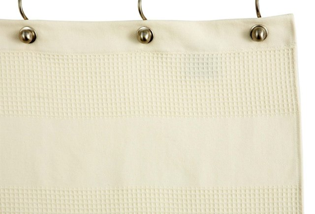 Hotel Waffle Shower Curtain, Natural