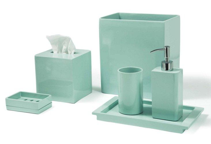 Kassatex 6-Pc. Lacca Bathroom Set, Blue