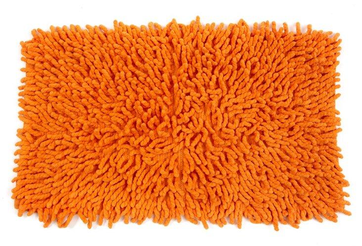 Shag Bath Rug, Orange