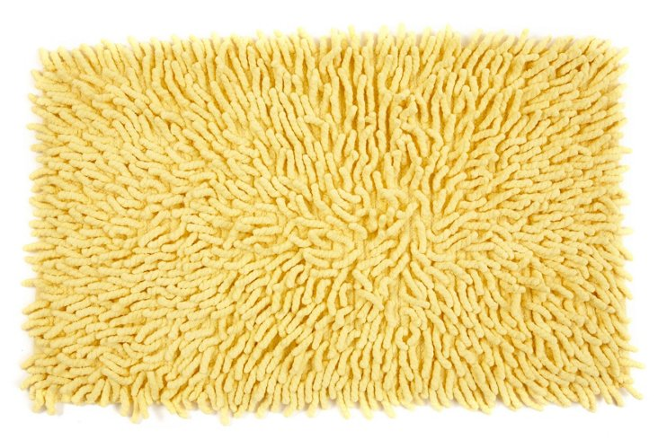 Shag Kids Bath Rug, Sunshine