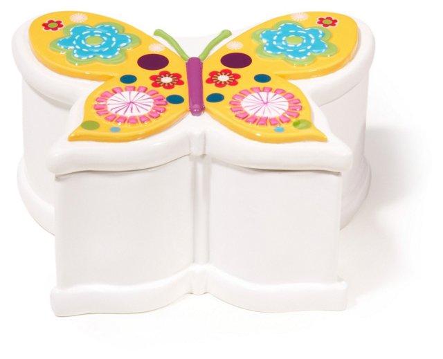Butterflies Cotton Jar