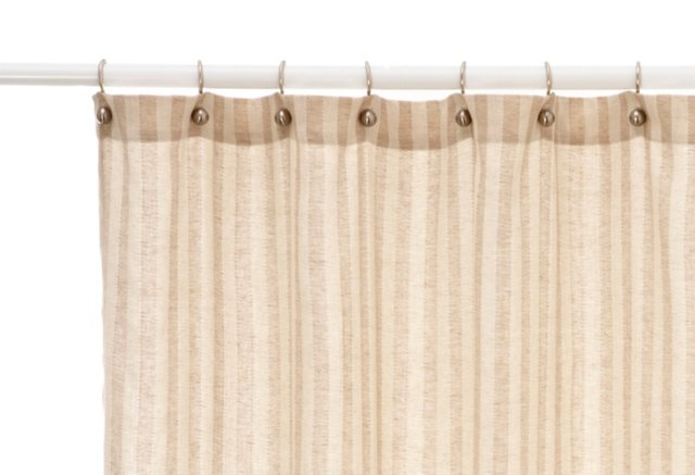 Cortina Linen Shower Curtain, Flax