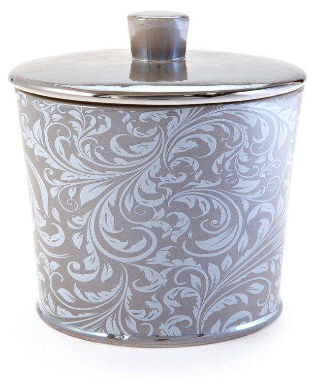Bedminster Scroll Cotton Jar, Flint
