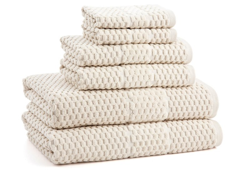 6-Pc San Marco Towel Set, Latte