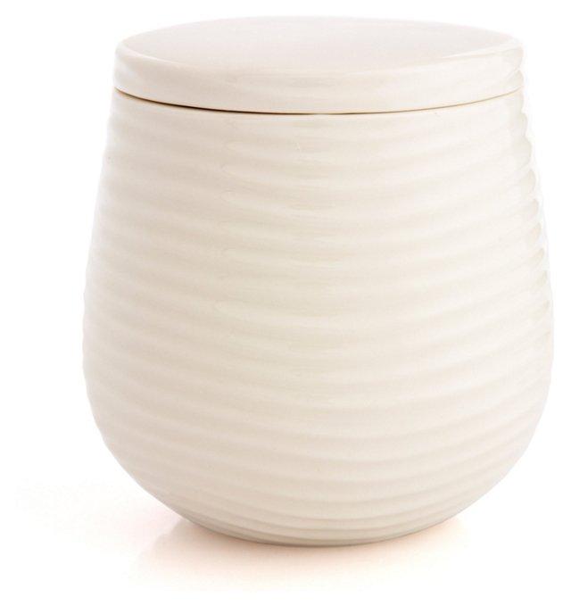 Mojave Cotton Jar, Ivory