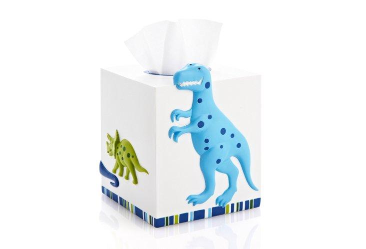 Dino Park Tissue Holder, Blue/Green