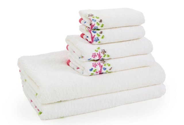 6-Pc Merry Meadow Embroidered Bath Set