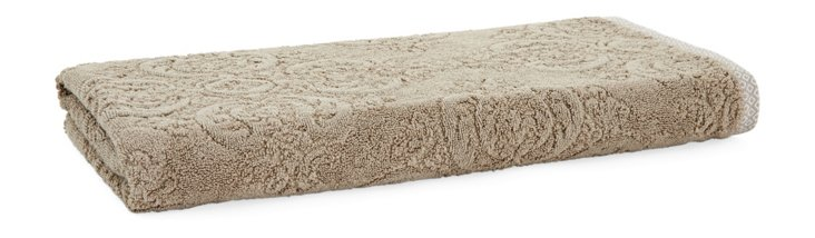 Damask Bath Towel, Taupe