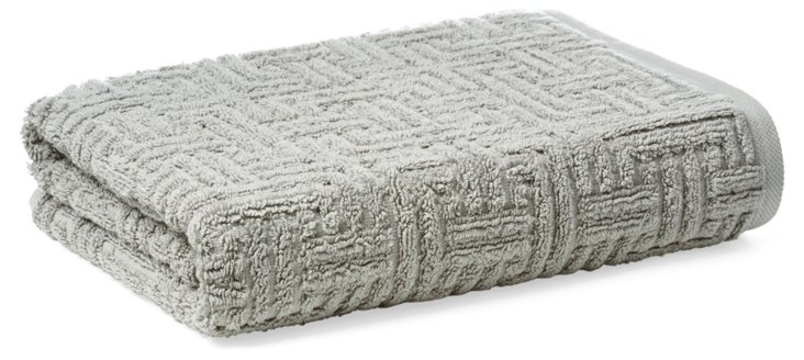 Vegas Geo Bath Towel, Anthracite