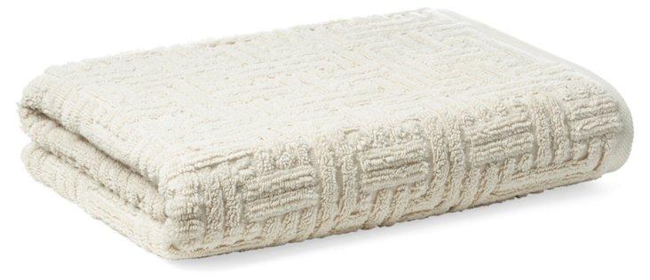 Vegas Geo Bath Towel, Latte