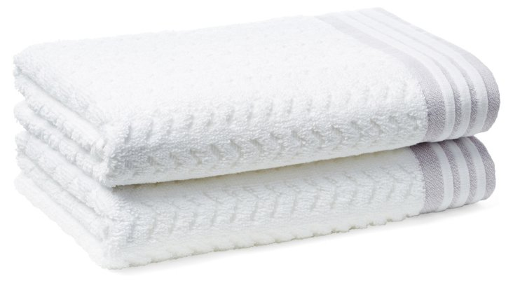 S/2 Provence Hand Towels, Lavender