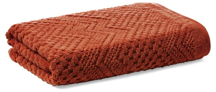 Chateau Bath Towel, Terracotta