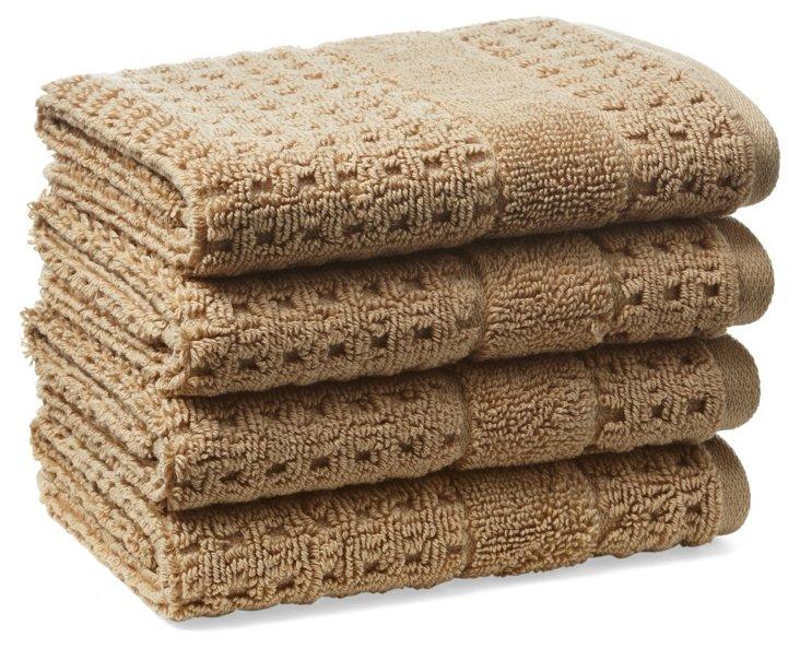 S/4 Hammam Washcloths, Almond
