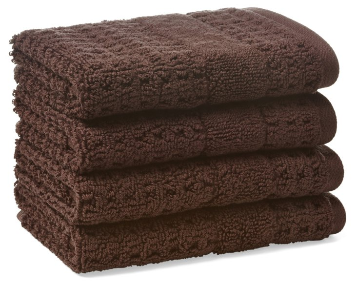S/4 Hammam Washcloths, Cocoa