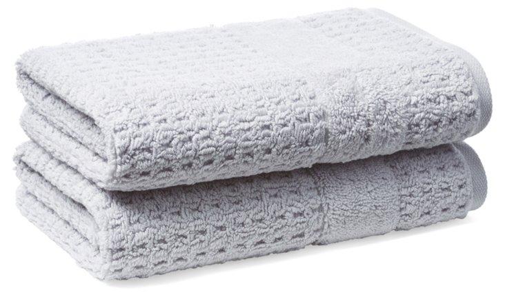 S/2 Hammam Hand Towels, Iris